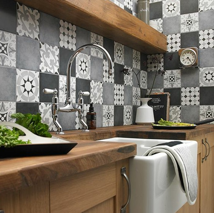 Comment adopter le carrelage patchwork son int rieur for La cuisine dans le bain