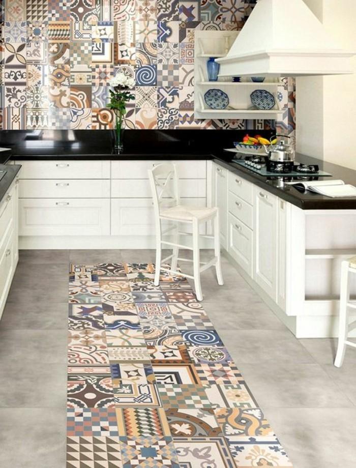 Ordinaire Bien Choisir Sa Cuisine #7: Carrelage-patchwork-jolis-motifs-avec-carreaux-ciment-teintes-claires.jpg