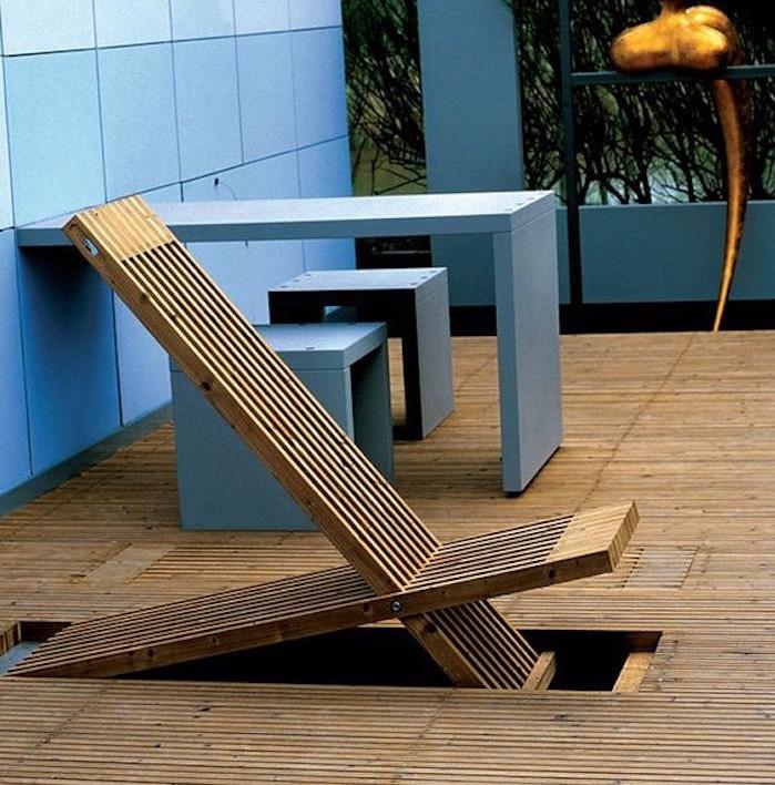 Chaise Longue Pliante Transat Bain De Soleil Bois