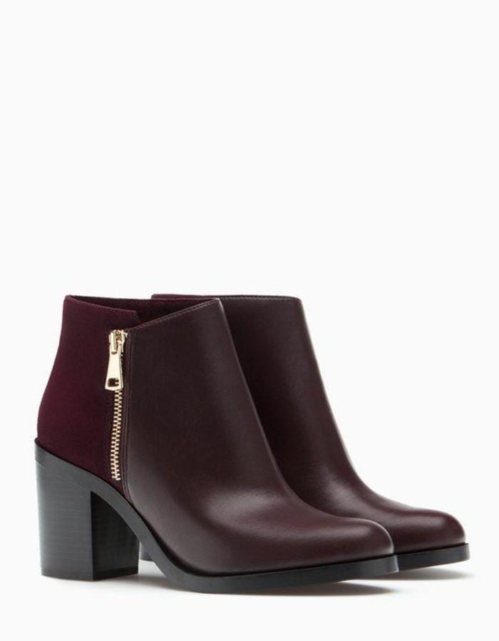 chaussure-a-la-mode-bottine-plate-rouge
