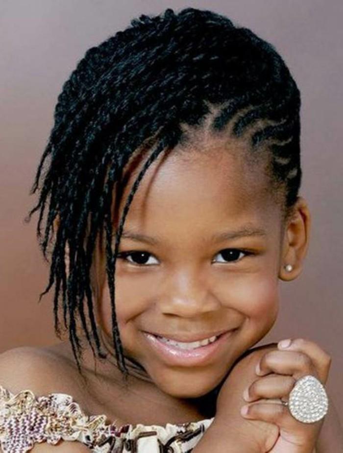 Tresse enfant 70 id es g niales pour les petites demoiselles - Coiffure mariage tresse africaine ...