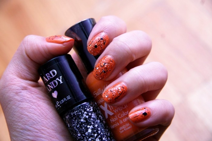 cool-motif-ongle-french-manucure-originale-orange