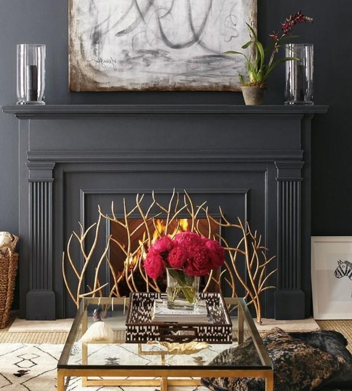 couleur-anthracite-deco-salon-gris-magnifique-cheminee-exceptionnelle-deco-salon-gris-raffinee