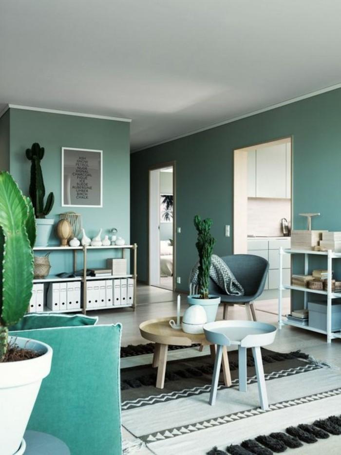 On met l 39 accent sur la couleur de peinture pour salon for Peinture moderne pour salon