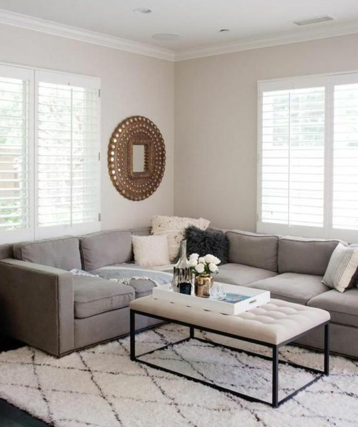 couleur-peinture-salon-blanc-canape-gris-tapis-blanc-ambiance-cocooning-amenagement-salon-simple