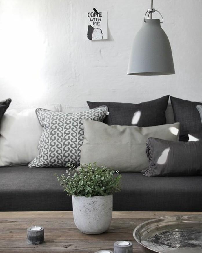couleur-peinture-salon-blanc-et-canape-gris-table-en-bois-brut-superbe-idee-amenagement-salon
