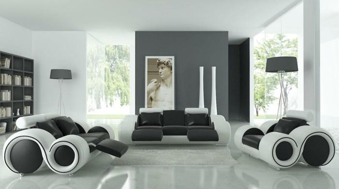 couleur-peinture-salon-gris-et-blanc-idee-deco-salon-en-noir-blanc-et-gris-salon-ultra-moderne-decor-sobre