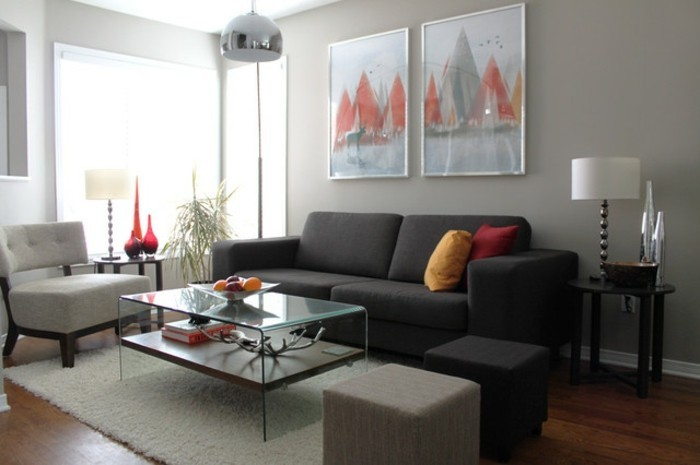 Gris Anthracite Salon : Déco salon gris super idées pleines de charme