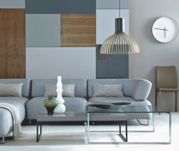couleur-peinture-taupe-deco-salon-gris-tres-simple-aux-lignes-epurees