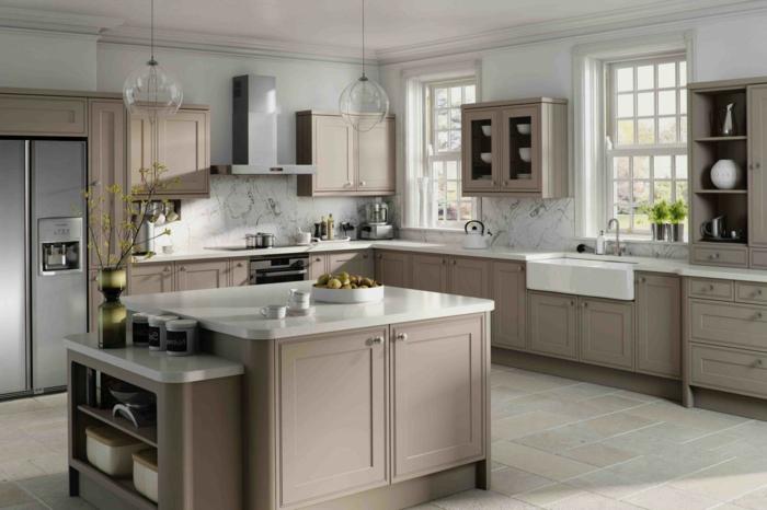 couleur-taupe-clair-meubles-cuisine-taupe-modele-cuisine-style-sobre-et-elegant