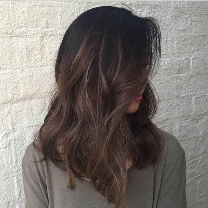 Couleur marron glace cheveux chatain fonce