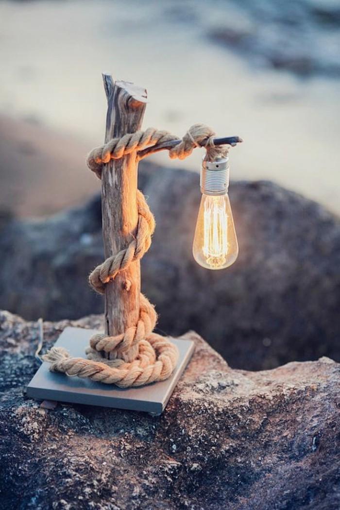 Lampe Bois Flotte Maison : Un choix bon pour votre d?co ? des tables de b?ches glac?es en