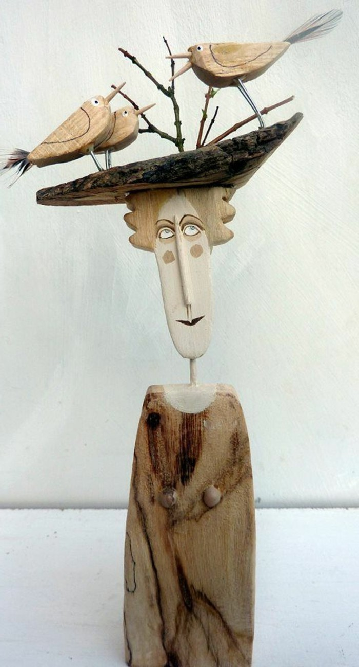 Cr ation en bois flott for Bois flotte sculpture