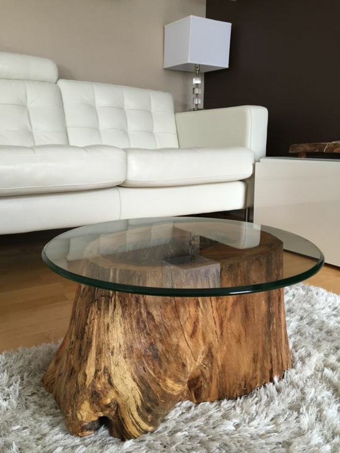 Cr ation en bois flott - Table basse en bois flotte ...