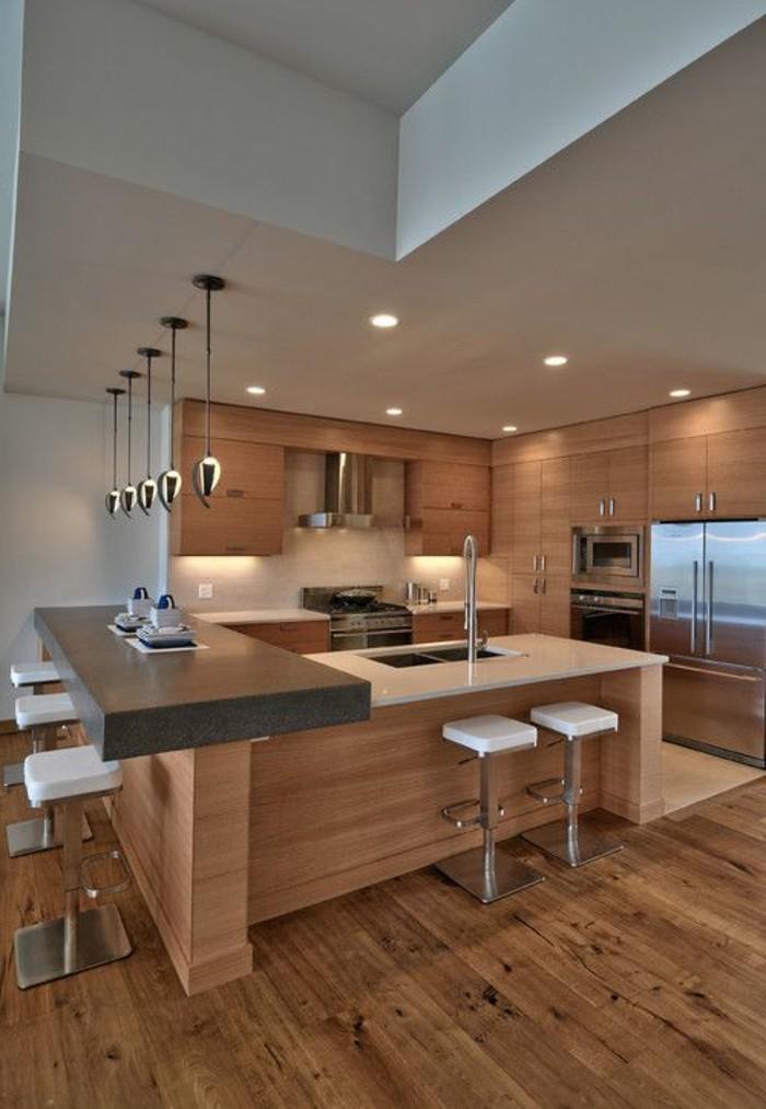 Cuisine equip e 78 propositions merveilleuses pour vous for Eclairage suspension cuisine design