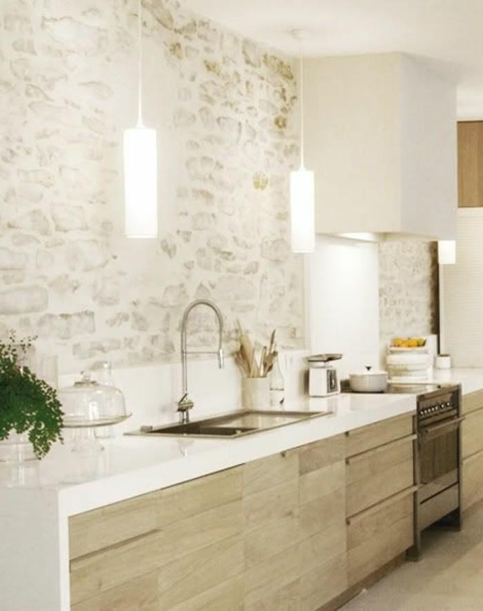 cuisine-equipee-mur-de-briques-claire-lumiere-outillage
