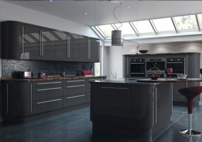 cuisine-grise-meuble-cuisine-gris-anthracite-et-carrelage-couleur-anthracite-decor-austere-et-dramatique