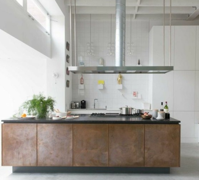cuisine industrielle l 39 l gance brute en 82 photos. Black Bedroom Furniture Sets. Home Design Ideas
