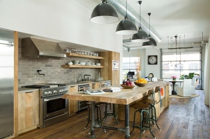 cuisine-industrielle-en-bois-et-metal-table-en-bois-meuble-industrielle-en-bois-et-parquet-en-bois