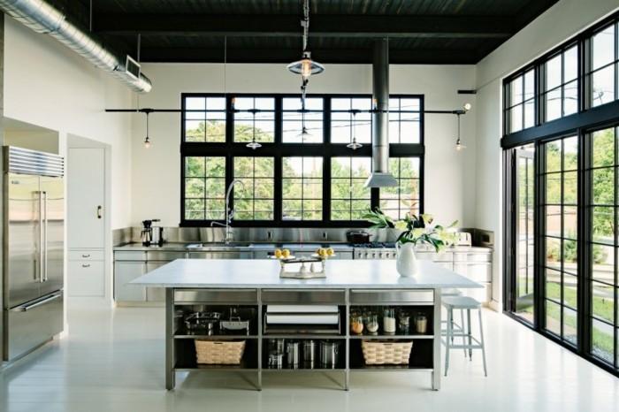 cuisine-industrielle-vintage-trop-stylee-ilot-cuisine-et-meuble-cuisine-elegants