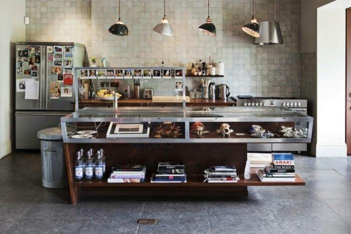 cuisine-superbe-avec-deco-industrielle-personnalisee-mur-en-carrelage-ilot-cuisine-design-extraordinaire-photos-suspensions-industrielles