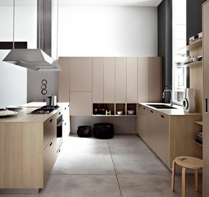 cuisne-taupe-elements-gris-combines-avec-des-elements-gris-anthracite-balncs-et-bois