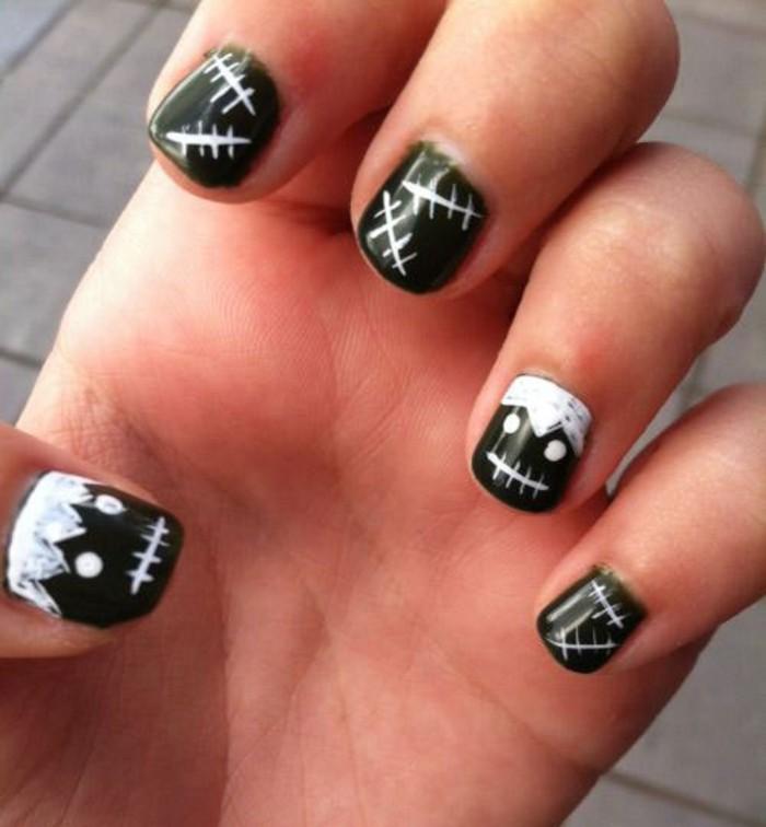 easy skeleton nails