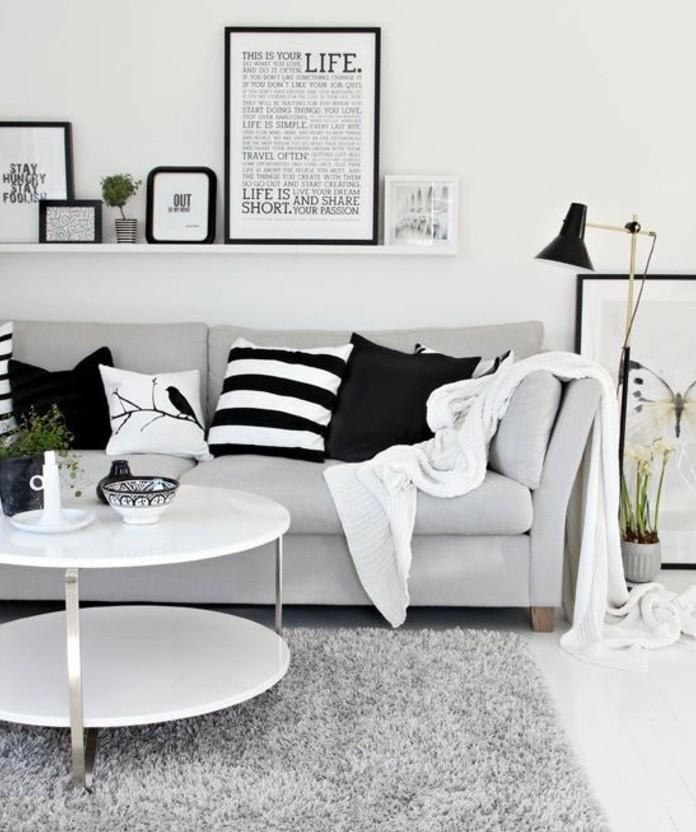deco-salon-blanc-combinee-avec-des-elements-gris-et-noirs-amenagement-salon-charmant
