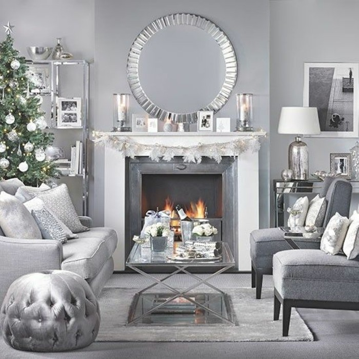 Deco salon blanc cosy avec des id es - Decoration salon moderne gris ...
