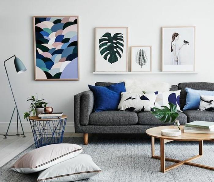 D co salon gris 88 super id es pleines de charme - Ambiance peinture salon ...