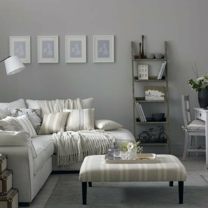 Boho chic furniture images boho chic decor theme - Salon blanc gris ...