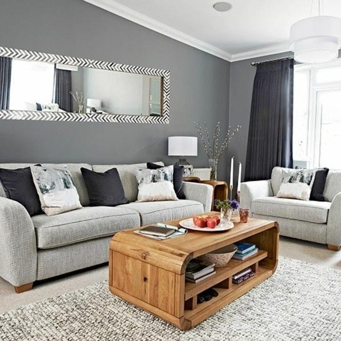 deco-salon-moderne-couleur-peinture-salon-gris-fonce-canape-gris-clair-table-en-bois-desing-interessant