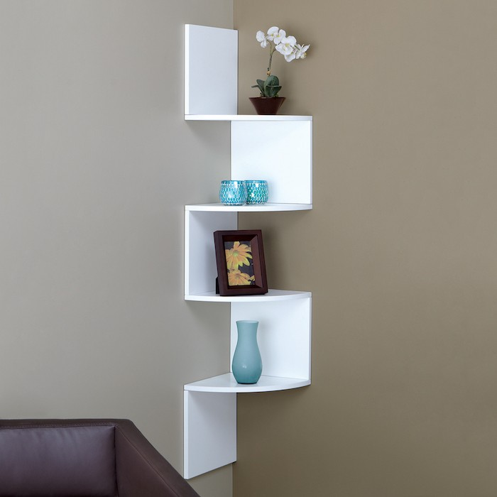 Etagere D Angle Blanche