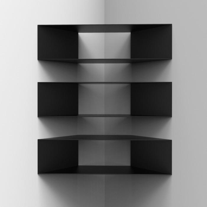 etagere-d-angle-mur-noire-design-cuisine