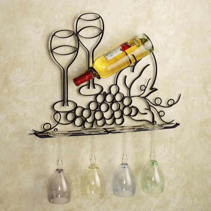 etagere-en-fer-forge-porte-bouteille