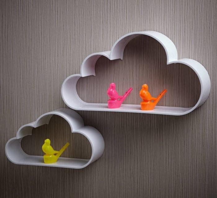 etagere-enfant-murale-nuage-plastique-ou-metal-gris