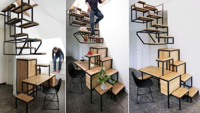 tag re escalier sous les marches la place 44 id es. Black Bedroom Furniture Sets. Home Design Ideas