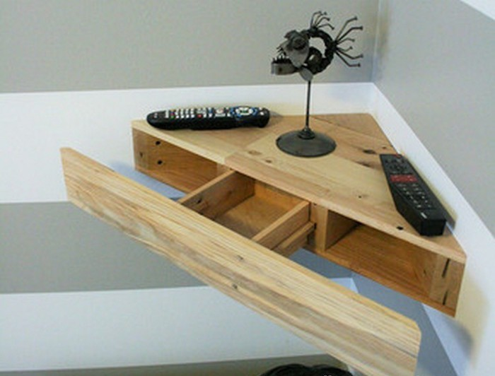 Floating wood shelves plans wooden furniture plans for Bureau etagere
