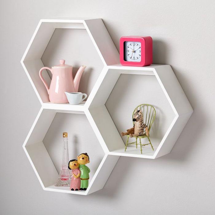etagere-murale-blanche-hexagone-cube