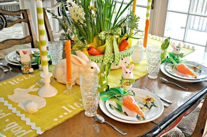 formidable-deco-paques-en-jaune-vert-et-orange-motif-de-lapin-surrepresente