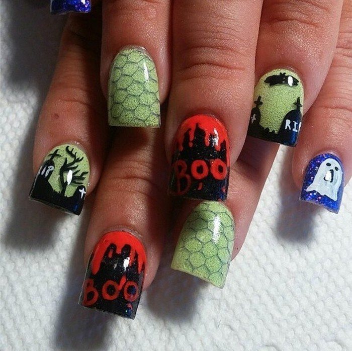 formidable-idee-dessin-halloween-facile-model-ongle-gel-idee