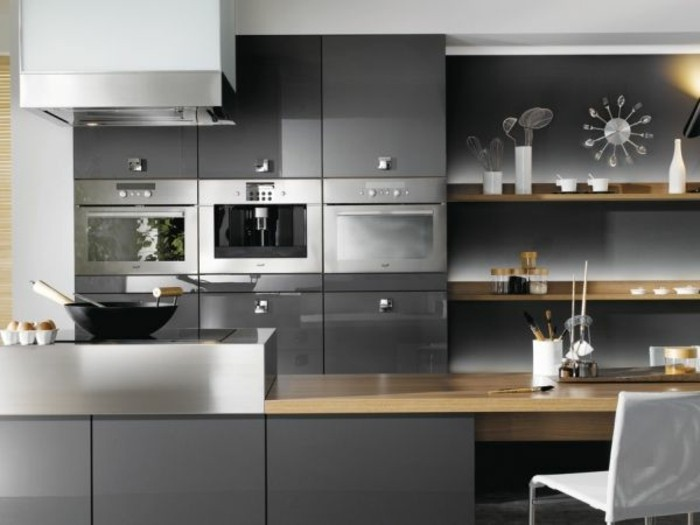 plan de travail cuisine gris anthracite. Black Bedroom Furniture Sets. Home Design Ideas