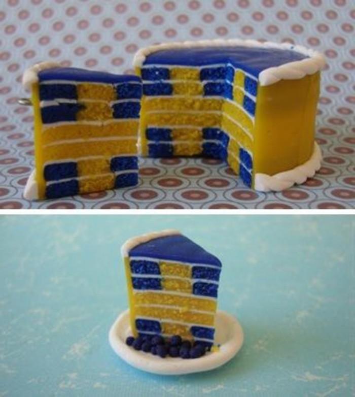 gateau-damier-gateau-original-en-jaune-et-bleu