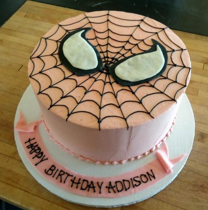 gateau-spiderman-anniversaire-fille-design-personnalise