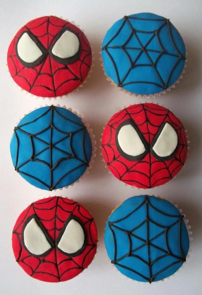 gateau-spiderman-cupcakes-spiderman-colores-gateau-rouge-et-bleu
