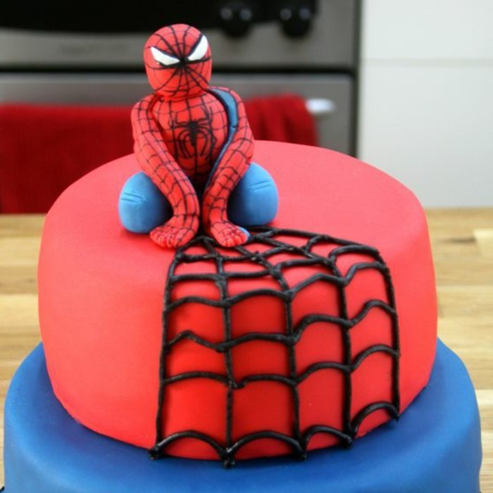 gateau spiderman gateau anniversaire super heros - Gateau Anniversaire Super Heros