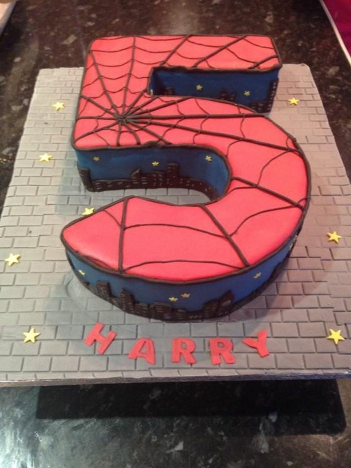 gateau-spiderman-gateau-garcon-cinq-ans