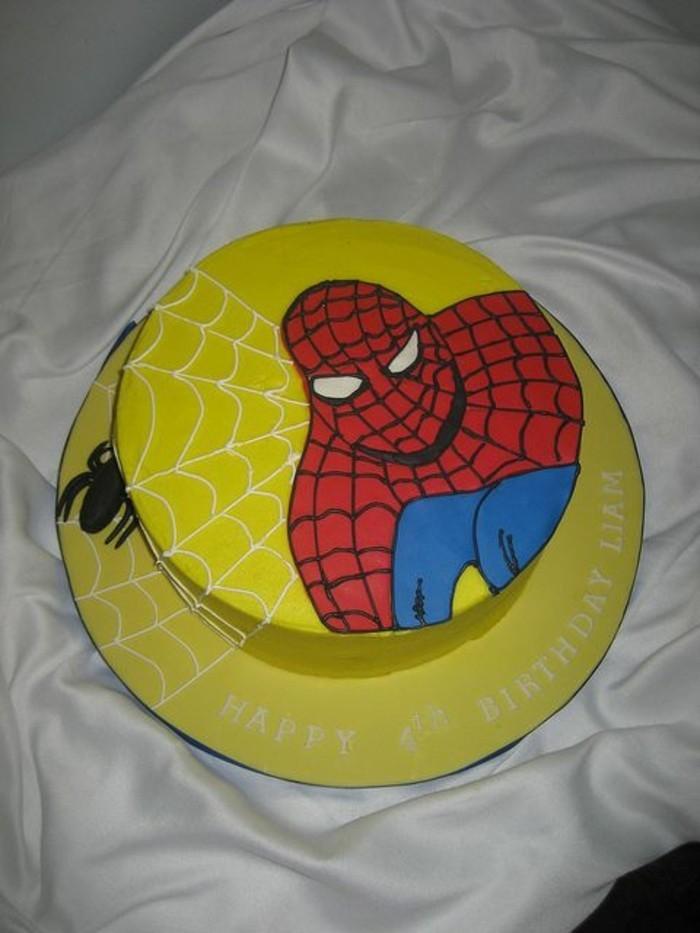 gateau-spiderman-jaune-gateaux-amusants-et-differents
