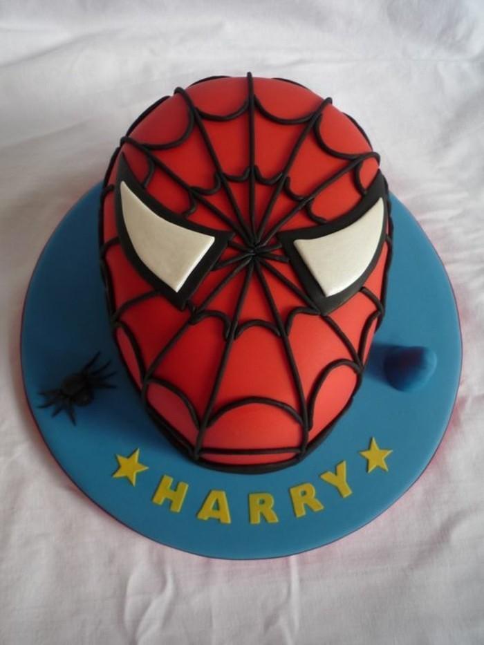 gateau-spiderman-masque-spiderman-rouge