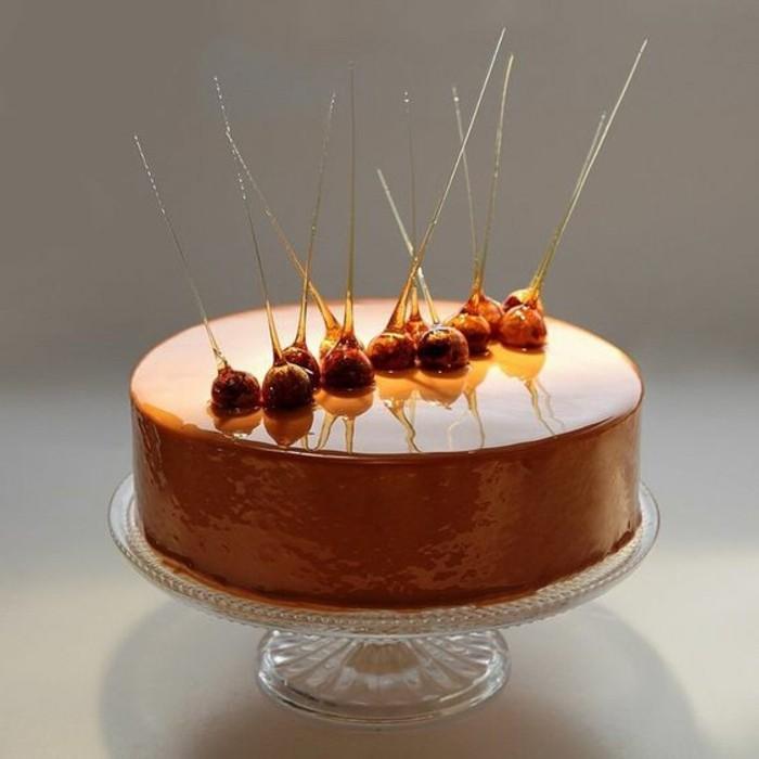 100 photos de desserts au gla age miroir et quelques for Glacage miroir caramel